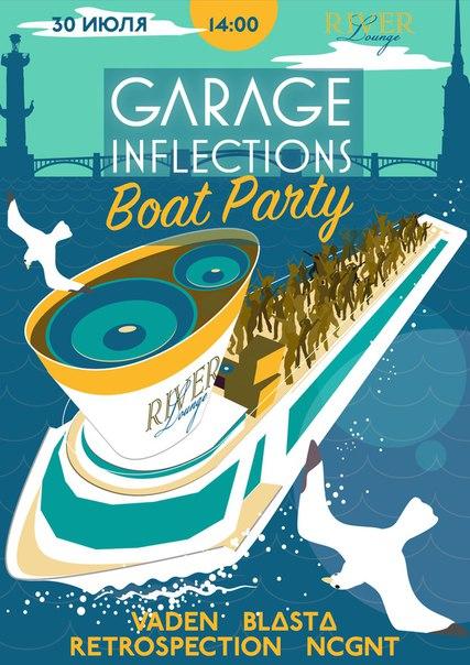 30 iyulya v 14-00 priglashaem na teplokhod River Lounge vmeste s 30.07 Garage Inflections BoatParty